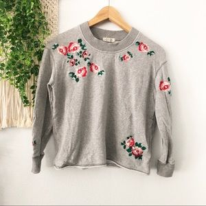 MILE(S) by Madewell Floral Embroidered Pullover